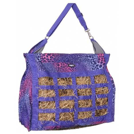 Tough-1 Heavy Denier Nylon Hay Tote with Dividers - Wild Safari Print