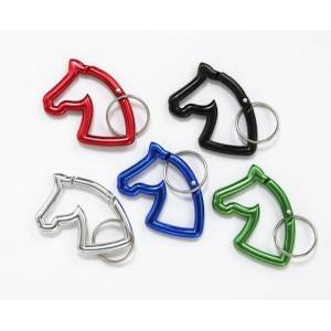 Gift Corral Horsehead Carbiner Keychain - 6 Pack