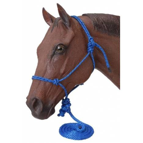Tough-1 Poly Rope Tied Halter with Lead - 6 Pack