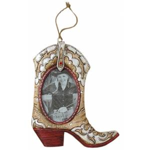 Gift Corral Cowboy Boot Frame Ornament