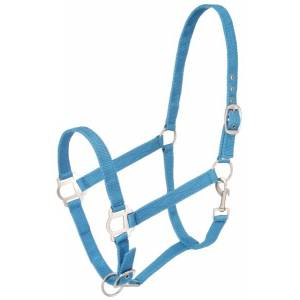 Tough-1 Assorted Nylon Halters with  Satin Hardware - 6 Pack