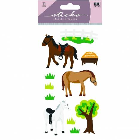 Kelley Horses and Trees Glitter Stickers