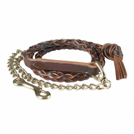 HorZe Leather Lead Shank Braided