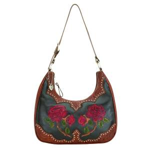 American West Roses Are Red Hobo Style Handbag