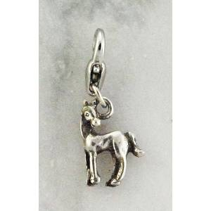 Barbary Horse with  Head Turned Charm