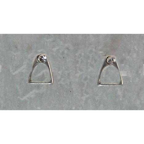 Finishing Touch Stirrup with Stones Earrings