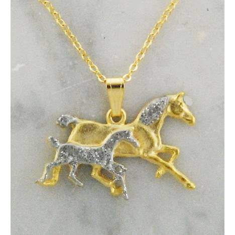 Finishing Touch Mare & Foal Necklace
