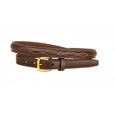 Tory Leather Raised Leather Fancy Stitch Belt
