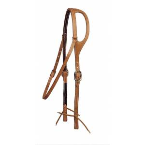 Tory Leather Shaped Ear Headstall - Throat Latch
