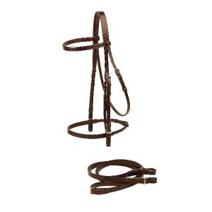 Tory Leather Flat English Bridle & Flat Reins