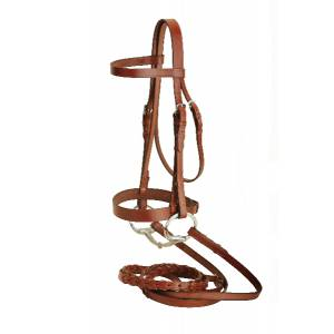 Tory Leather Heavy Duty Fox Hunt Bridle With  Laced Reins & Hook & Stud Ends