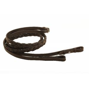 Tory Leather Laced Reins With  Hook & Stud Ends