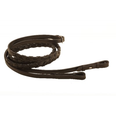 Tory Leather Laced Reins With Hook Amp Stud