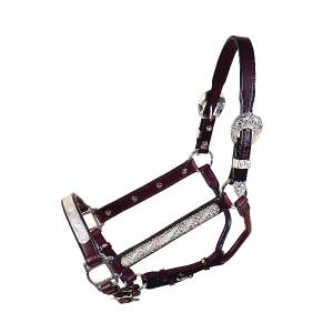 Tory Leather Oklahoma Straight Cheek Show Halter 3-Piece Buckle Set & Lead