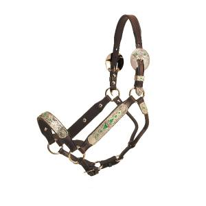 Tory Leather Santa Clara Congress Style Show Halter With  Lead