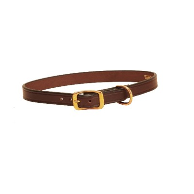 Tory Leather Plain Creased Dog Collar