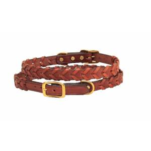 Tory Leather Laced Leather Dog Collar