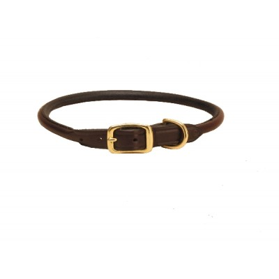 Tory Leather Rolled Leather Dog Collar