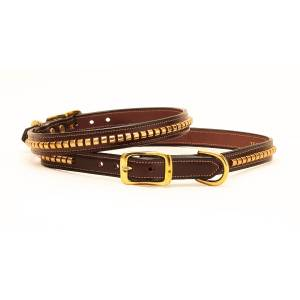 Tory Leather Leather Clincher Dog Collar