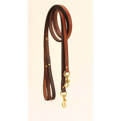 Tory Leather Plain Creased Leather Dog Leash With  Rolled Hand Hold