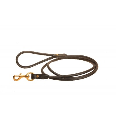 Tory Leather English Bridle Leather Rolled Leash - 4'