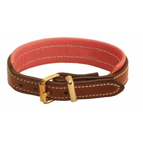 "TORY LEATHER 1/2"" Padded Leather Bracelet with Brass Buckle"