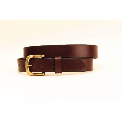 "TORY LEATHER 1 1/4"" Plain Belt with Square Nickel Buckle"