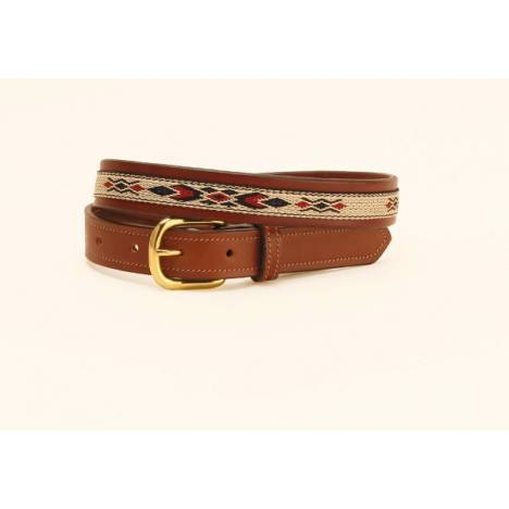 "TORY LEATHER 1"" Belt with Synthetic Horse Hair"