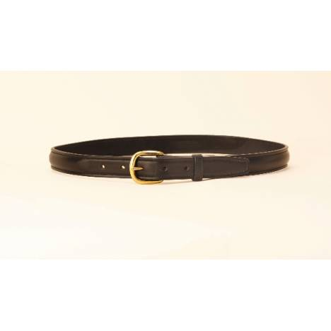 "TORY LEATHER 1"" Raised Leather Belt with Brass Buckle"