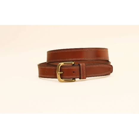 "TORY LEATHER 1 1/4"" Harness Leather Double Stitched Belt"