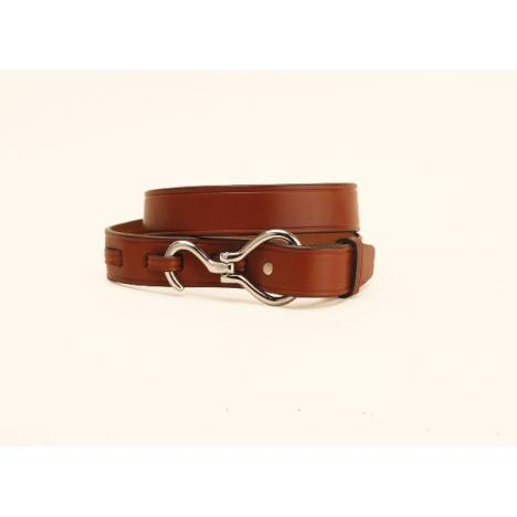"TORY LEATHER 1 1/4"" Belt with Hoof Pick Buckle"