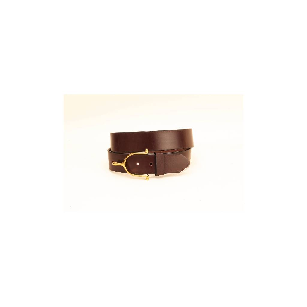 """TORY LEATHER 1 1/2"""" Belt with Spur Buckle"""