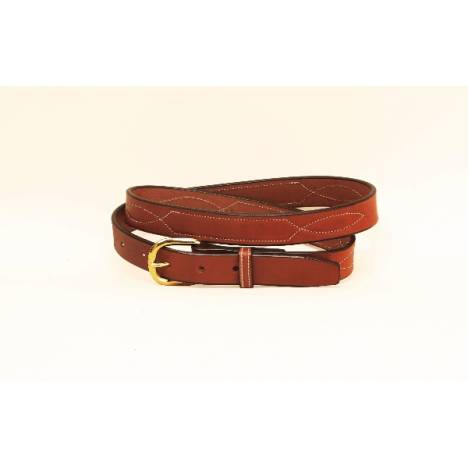 "TORY LEATHER 1"" Belt with Stitched Pattern"