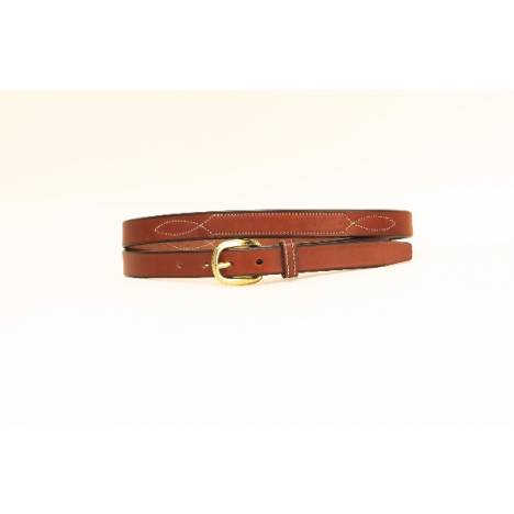 "TORY LEATHER 3/4"" Belt with Stitched Pattern"