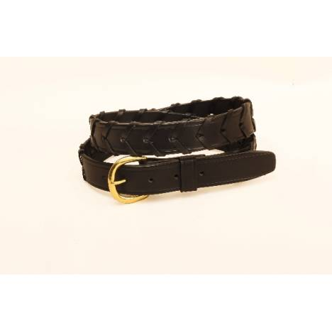 "TORY LEATHER 1 1/4"" Laced Belt"
