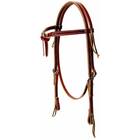 Weaver Deluxe Latigo Leather Knotted Browband Headstall