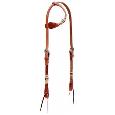 Weaver Leather Flat Sliding Ear Headstall With Accents