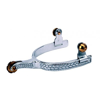 Weaver Leather Ladies' Roping Spurs With  Engraved Band