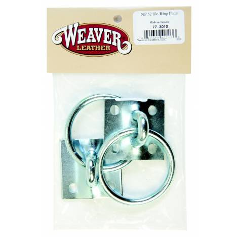 Weaver Leather Bagged Tie Ring Plates