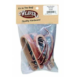 Weaver Water Tie Ends with Brown Latigo Ties