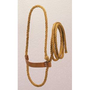 Weaver Leather Sisal Rope Halter with Harness Leather Noseband