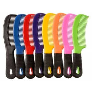 Tough-1 Rubber Grip Tail/Mane Combs - 12 Pack