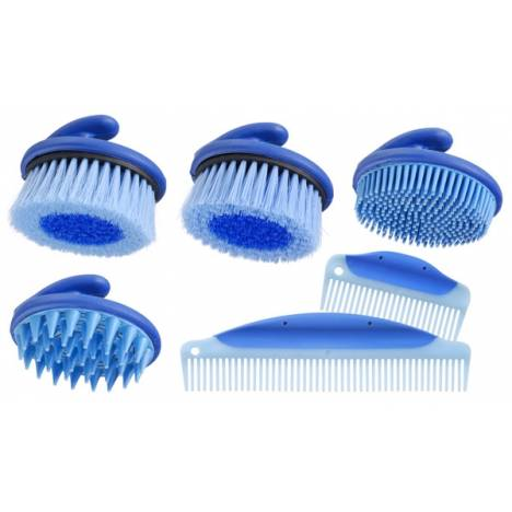 Palm Grip Brush & Comb Collection - 6 Piece