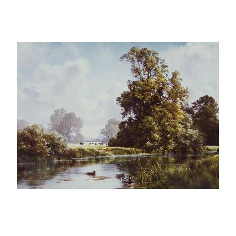 Late Summer on the River Blank Greeting Cards - 6 Pack