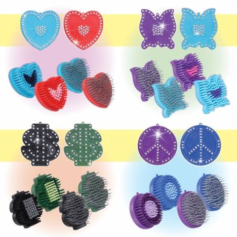 Tough-1 8 Pack Assortment Brushes with Inlaid Crystals