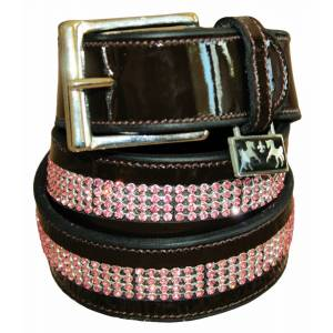 Equine Couture Bling Patent Leather Belt - Ladies