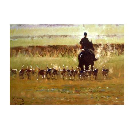 Going Away (Fox Hunting) Blank Greeting Cards - 6 Pack