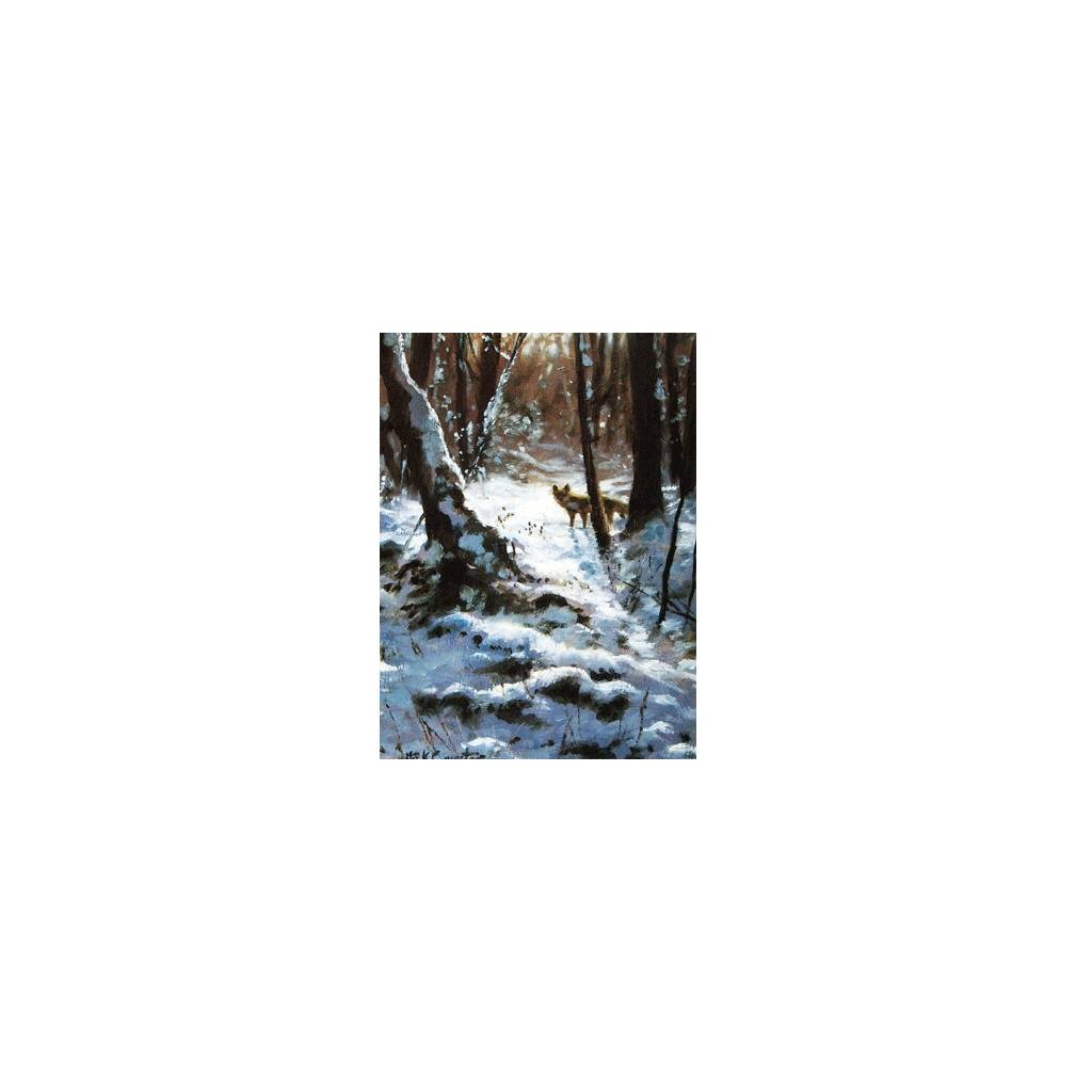 Winter Fox Blank Greeting Cards - 6 Pack