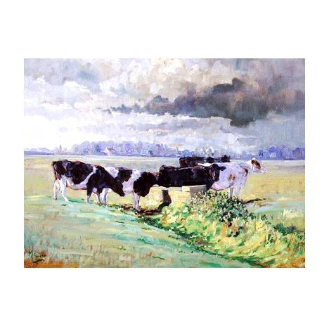 This England (Cow) Blank Greeting Cards - 6 Pack