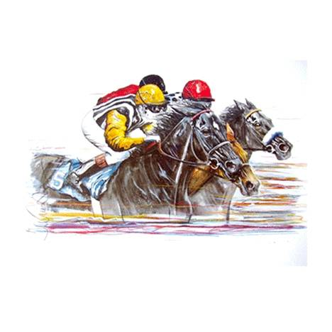 Speed, Horse Racing Art Print by Jan Kunster